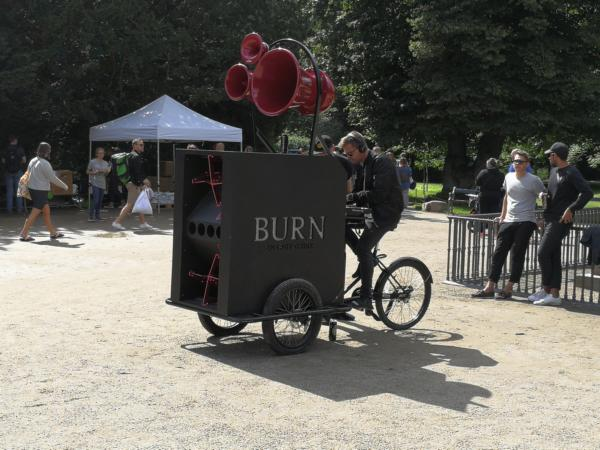 "The ""Sound Machine"" from Burn Energy Drink"