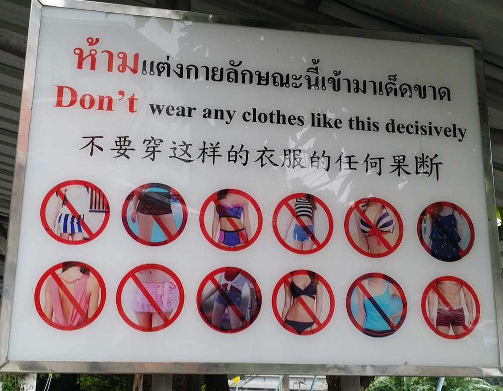 Dresscode for temple in Thailand